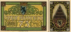 Pössneck - 75 Pfennig