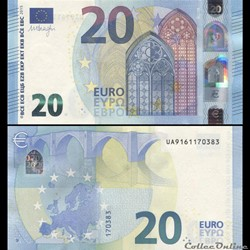20 EUROS - SIGNATURE DRAGHI - PICK 22 U - FRANCE