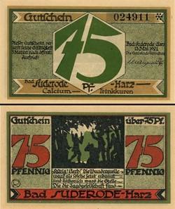 Bad Suderode Harz - 75 Pfennig