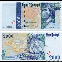PORTUGAL - PICK 189 b 1 - 2000 ESCUDOS - 1996