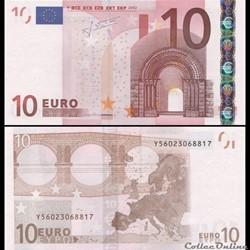 10 EUROS - SIGNATURE TRICHET - PICK 9 Y ...