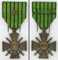 Croix de Guerre 1939 - Régime de Vichy