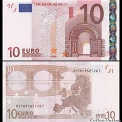 10 EUROS - SIGNATURE TRICHET - PICK 9 U ...