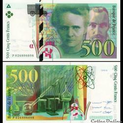 FRANCE - 500 FRANCS - Pierre et Marie Curie