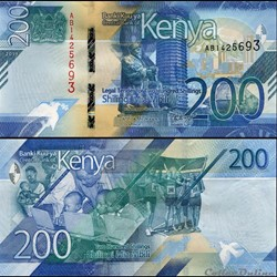 KENYA - PICK 54 a - 200 SHILLINGS - 2019