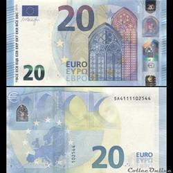 20 EUROS - SIGNATURE DRAGHI - PICK 22 S ...