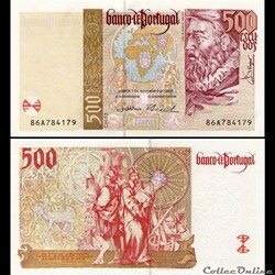 PORTUGAL - PICK 187 c - 500 ESCUDOS - 20...