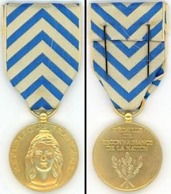 Médaille de reconnaissance de la Nation