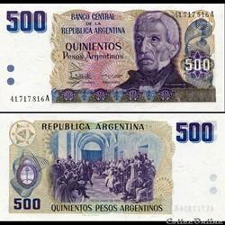 ARGENTINE - PICK 316 a - 500 PESOS ARGEN...