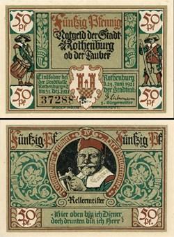 Rothenburg ob der Tauber 50 Pfennig 2b 4...
