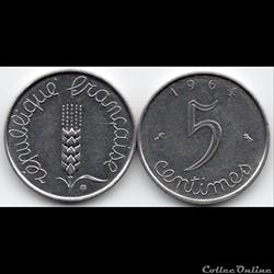 5 centimes épi 1964