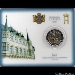 2018 : Coin card    175 em anniversaire du décèss du Grand-Duc Guillaume 1er