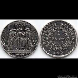 1 Franc : Commémorative Etats généraux 1...