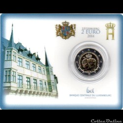 2014 : Coin card    Jean et Henri du Lux...