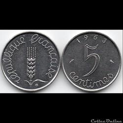 5 centimes épi 1963
