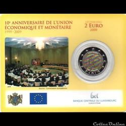 2009 : Coin card   X° An. U.E et Monétai...