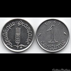 1 centime Epi 1967