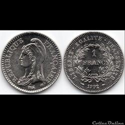 1 Franc : Commémorative République 1992