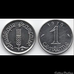 1 centime Epi 1970