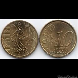 10 Cent : 2001 La Semeuse