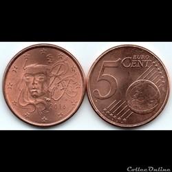 5 cent : 2016 Marianne, symbole de la Ré...