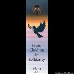 2017 : Paix , Solidarité enfants avec poinçon monnaie de Paris
