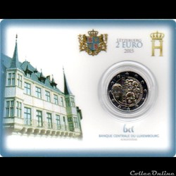 2015 : Coin card   1890 dynastie nassau-...