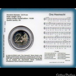 monnaie euro luxembourg 2013 coin card hymne national