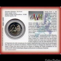 monnaie euro luxembourg 2012 coin card 10 ans de uro