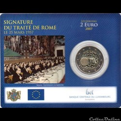 2007 : Coin card 50 Traité de Rome