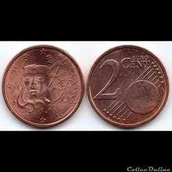 2 cent : 2017 Marianne, symbole de la Ré...