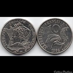 10 Francs : Jimenez 1986