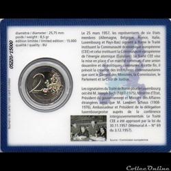 monnaie euro luxembourg 2007 coin card 50 traite de rome