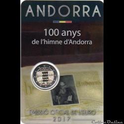 2017 : 100 ans de l'hymne de l'Andorre