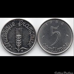 5 centimes épi 1962
