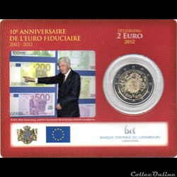 2012 : Coin card   10 ans de l'€uro