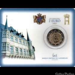 2007 : Coin card  Palais Grand-ducal