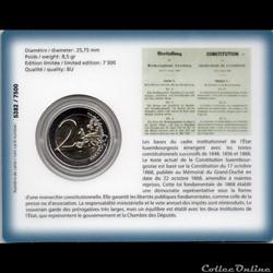monnaie euro luxembourg 2018 coin card 150 ans de la constitution