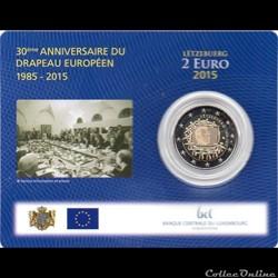 2015 :Coin card    30ième anniversaire drapeau européenne