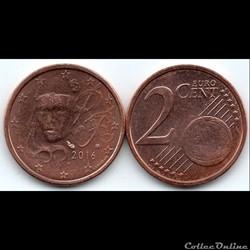 2 cent : 2016 Marianne, symbole de la Ré...