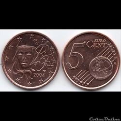 5 cent : 2004 Marianne, symbole de la Ré...