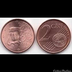 2 cent : 2015 Marianne, symbole de la Ré...