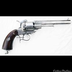 Lefaucheux modèle 1854 , 9 mm canon octo...