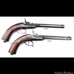 Des pistolets Lefaucheux issu du brevet ...