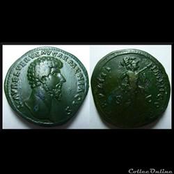 Sesterce Lucius Verus Mars 169