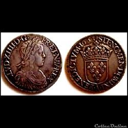 Ecu  Louis XIV 1653