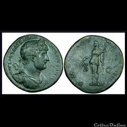 Sesterce Hadrien 117-138 Clementia