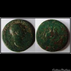 Sesterce Trajan Horseman