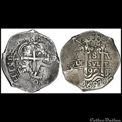 8 reales Charles II 1690
