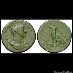 Sesterce Trajan Mesopotamia